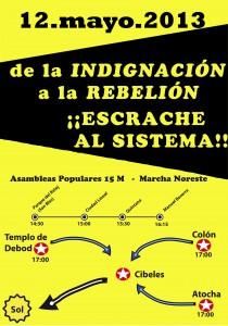 cartel 12M marcha noreste 2